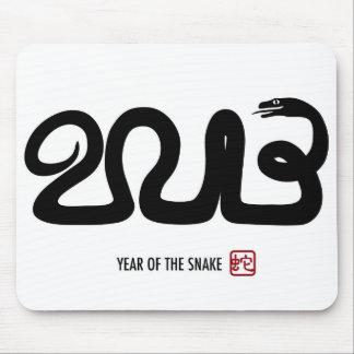 Serpiente lunar china Mousepad del Año Nuevo 2013