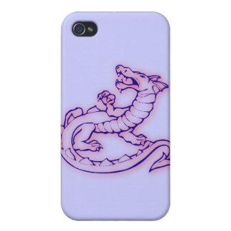 Serpiente medieval de respiración del dragón del f iPhone 4 carcasa