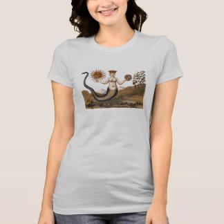 Serpiente-mujer de la alquimia con tres caras camiseta