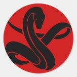 Serpiente Pegatina Redonda