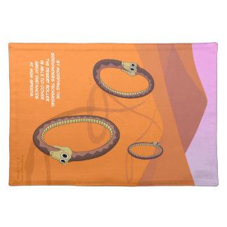Serpiente Placemat del rodillo del desierto Manteles