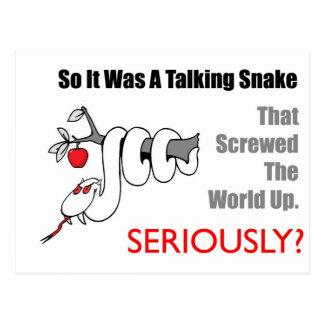 serpiente que habla postales