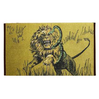Serpiente que lucha del león