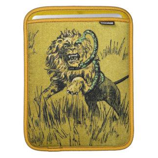 Serpiente que lucha del león funda para iPads