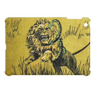 Serpiente que lucha del león iPad mini cobertura