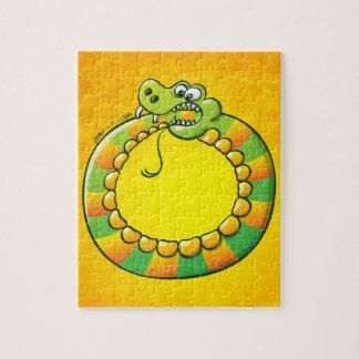 Serpiente que muerde su propia cola puzzle