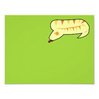 """Serpiente rayada invitación 4.25"""" x 5.5"""""""