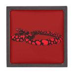 Serpiente roja con los corazones cajas de joyas de calidad