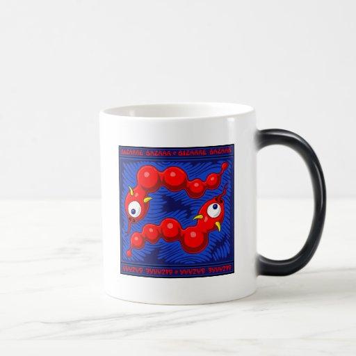 Serpiente roja Mousepads del Negro-agujero y tazas