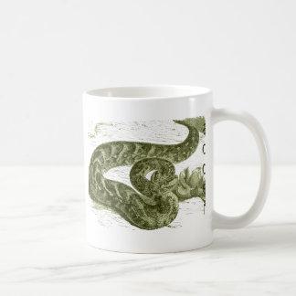 Serpiente (serpiente) taza básica blanca