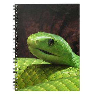 serpiente severa de la mamba verde libros de apuntes