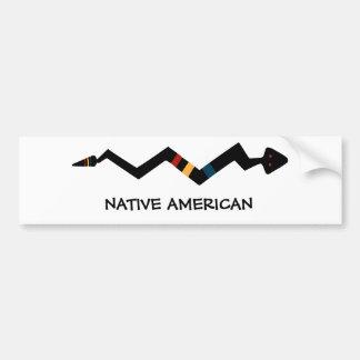 Serpiente - símbolo del indio del nativo americano pegatina para auto