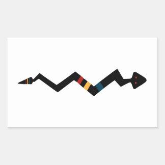 Serpiente - símbolo del indio del nativo americano pegatina rectangular