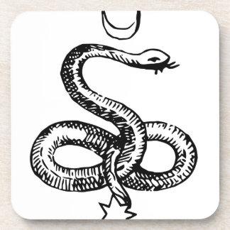Serpiente - símbolos paganos posavasos de bebidas