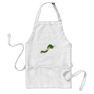 Serpiente verde delantal
