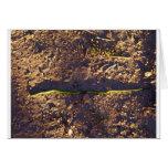 Serpiente verde en la tierra felicitacion