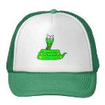 serpiente verde linda gorras de camionero