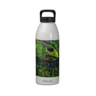Serpiente verde (simbolismo animal oscuro) botellas de agua reutilizables