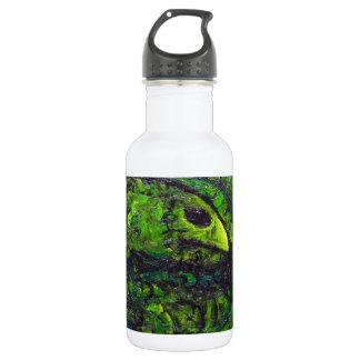 Serpiente verde (simbolismo animal oscuro) botella de agua