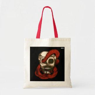 Serpiente y cráneo (Fuego-Rojos) Bolsa Tela Barata