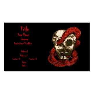 Serpiente y cráneo (Fuego-Rojos) Tarjetas De Visita