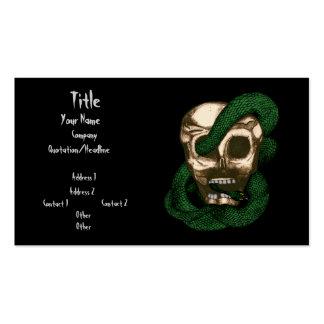 Serpiente y cráneo plantillas de tarjetas de visita
