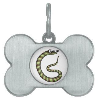 Serpiente y mosca placas mascota