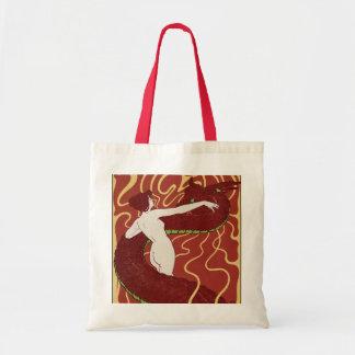 Serpiente y mujer bolsa tela barata