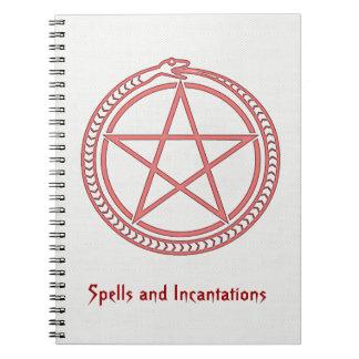 Serpiente y Pentagram Libretas Espirales