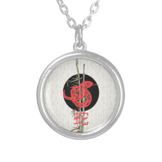 Serpiente (zodiaco chino) colgante redondo