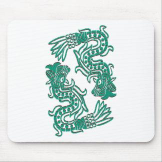 Serpientes aztecas del jade alfombrilla de ratón