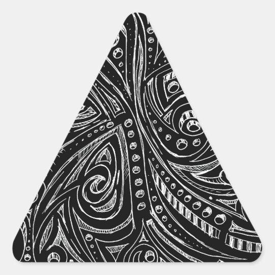 Serpientes de acero pegatina triangular