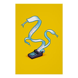 Serpientes de la calculadora póster