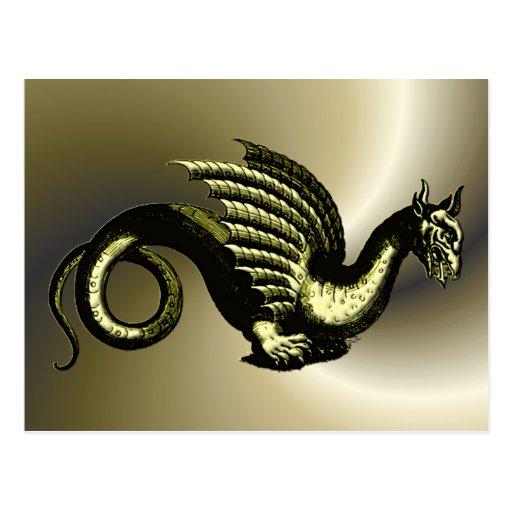 Serpientes de las criaturas míticas tarjeta postal