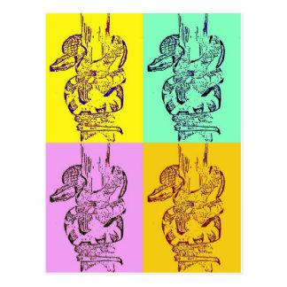 Serpientes del arte pop tarjetas postales