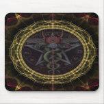 Serpientes del Pentagram Alfombrillas De Raton