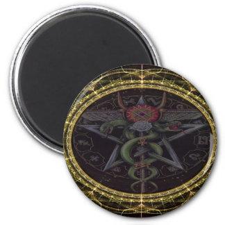 Serpientes del Pentagram Imán Redondo 5 Cm