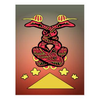 Serpientes del tablero postal