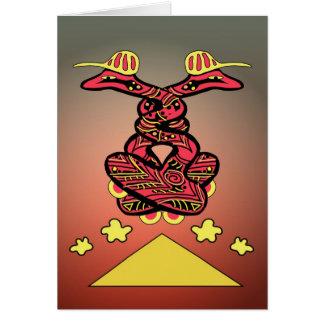 Serpientes del tablero tarjeta de felicitación