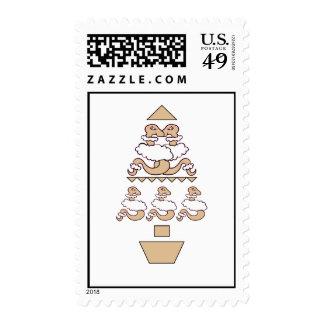 Serpientes en árbol de la ropa de las ovejas sello postal