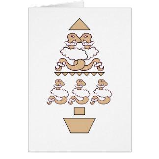 Serpientes en árbol de la ropa de las ovejas tarjeta de felicitación