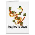 Serpientes paganas felicitación