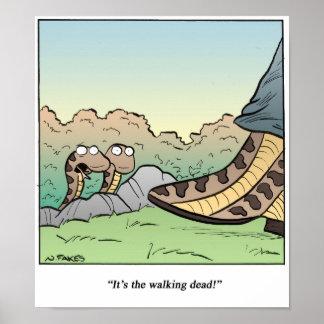 Serpientes/que caminan absolutamente póster