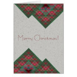 Serpinski's Squares Quilted Christmas Fractal Cards