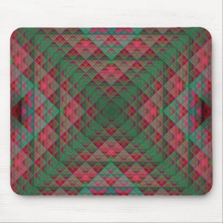 Serpinski's Squares Quilted Christmas Fractal Mouse Pad