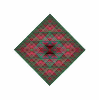 Serpinski's Squares Quilted Christmas Fractal Statuette