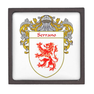 Serrano Coat of Arms/Family Crest Keepsake Box