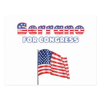 Serrano for Congress Patriotic American Flag Post Cards
