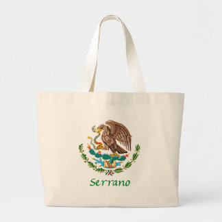 Serrano Mexican National Seal Large Tote Bag