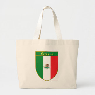 Serrano Mexico Flag Shield Large Tote Bag